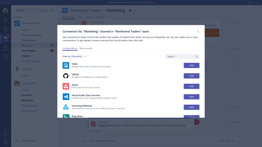 Teams Real Simple with Pictures – Deploying Connectors to deliver Twitter and Yammer content to theTeam