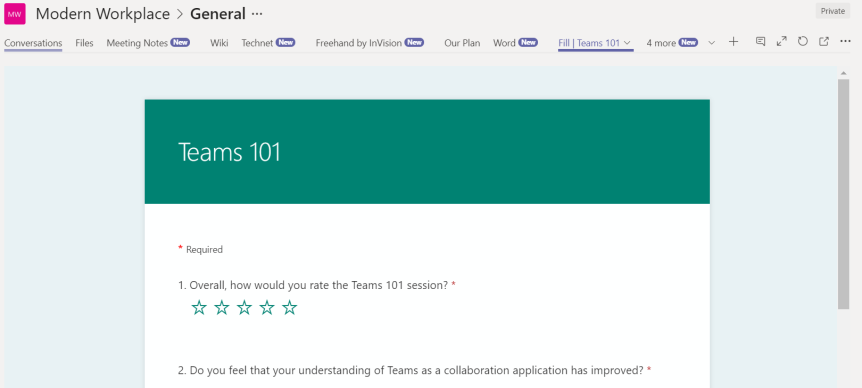 Teams Real Simple with Pictures – Getting Feedback to the Team with Forms & FlowNotifications