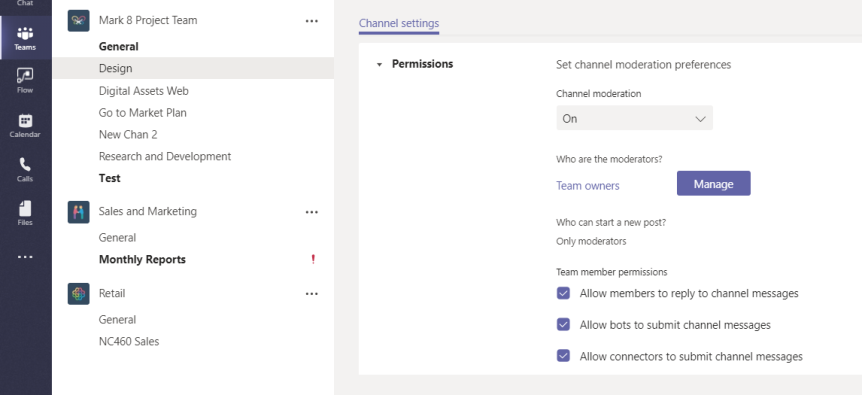 Teams Real Simple with Pictures: Moderating the Team'sChannels