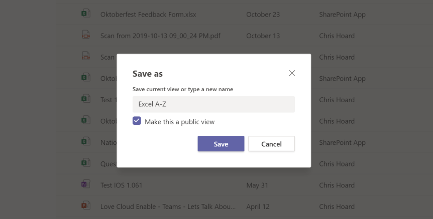 Teams Real Simple with Pictures: New Files Experience – Adding a Custom View to the Team