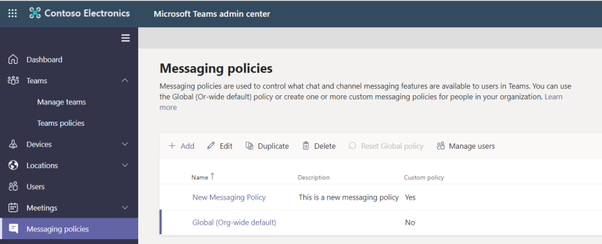 Teams Real Simple with Pictures: Adding a Custom Messaging Policy to the Team