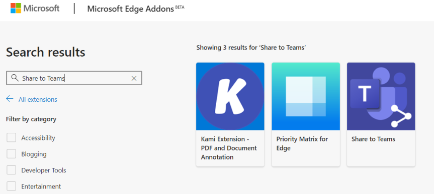 Teams Real Simple with Pictures: Share to Teams Extension in Edge