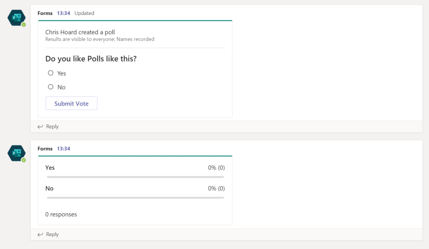 Teams Real Simple with Pictures: Quick Polls in Chats and Meetings using Forms