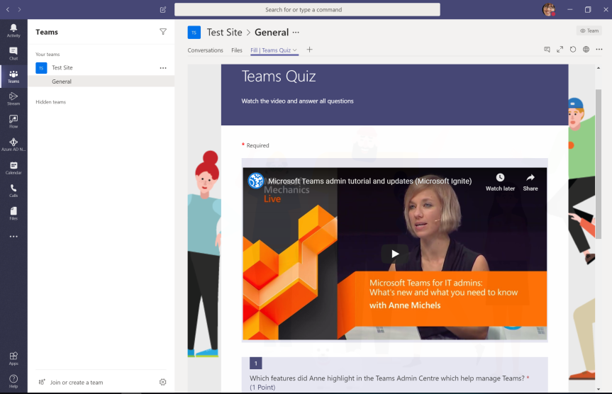 Teams Real Simple with Pictures: Video Quizzes for the Team using Teams, Forms andStream