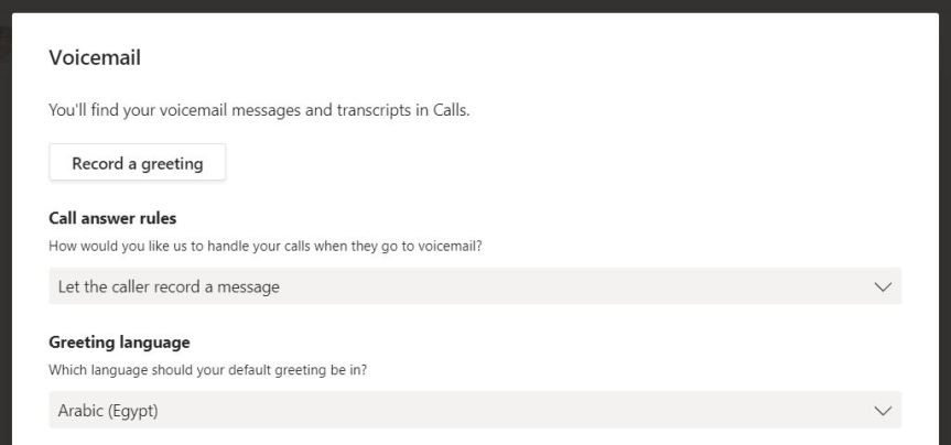 Teams: #FightCorona – How can I configure Voicemail?