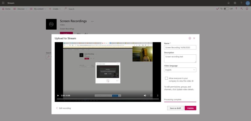 Teams Real Simple with Pictures: Record that screen straight into your Team withStream