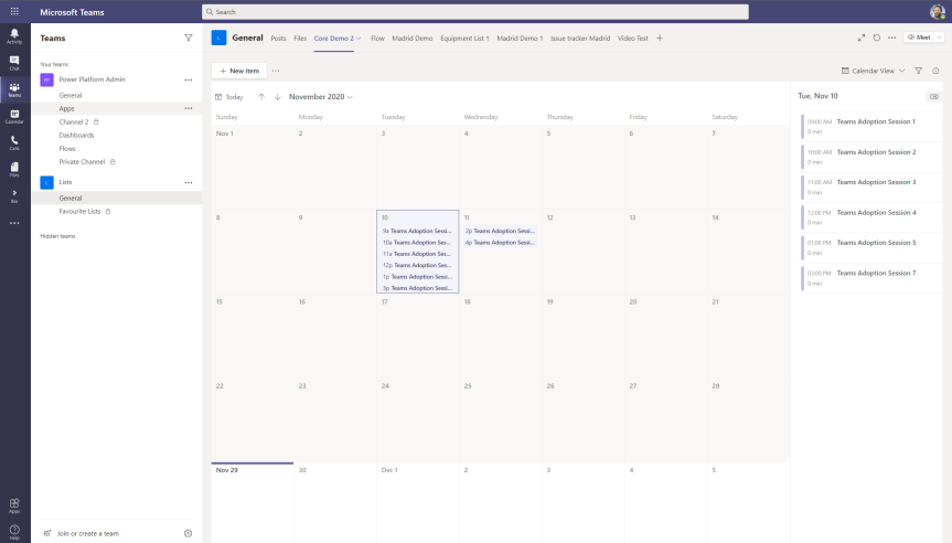 Teams Real Simple with Pictures: New Calendar View in Lists Web App + Teams