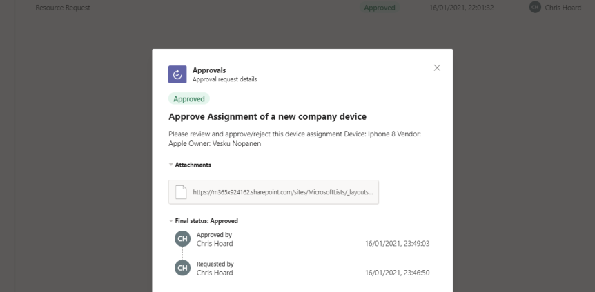 Teams Real Simple with Pictures: An Approval process for List Items using Lists, Teams, Power Automate, Outlook and the new ApprovalsApp