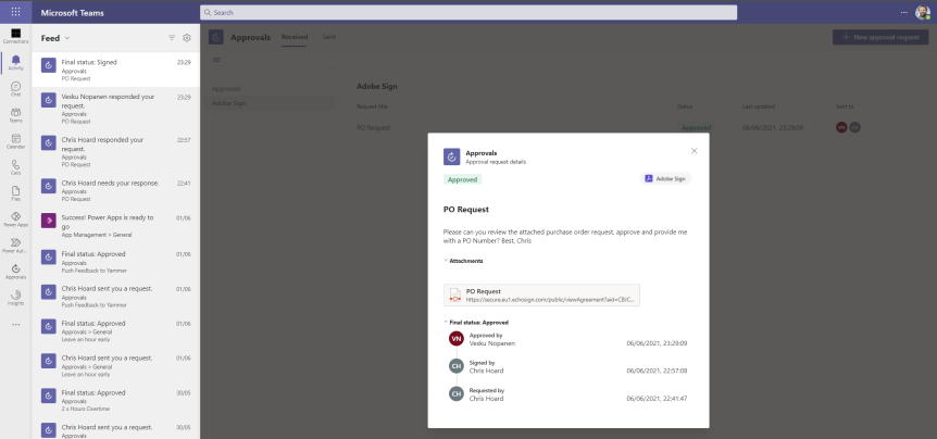Teams Real Simple with Pictures: Approvals using Adobe Sign – fromScratch